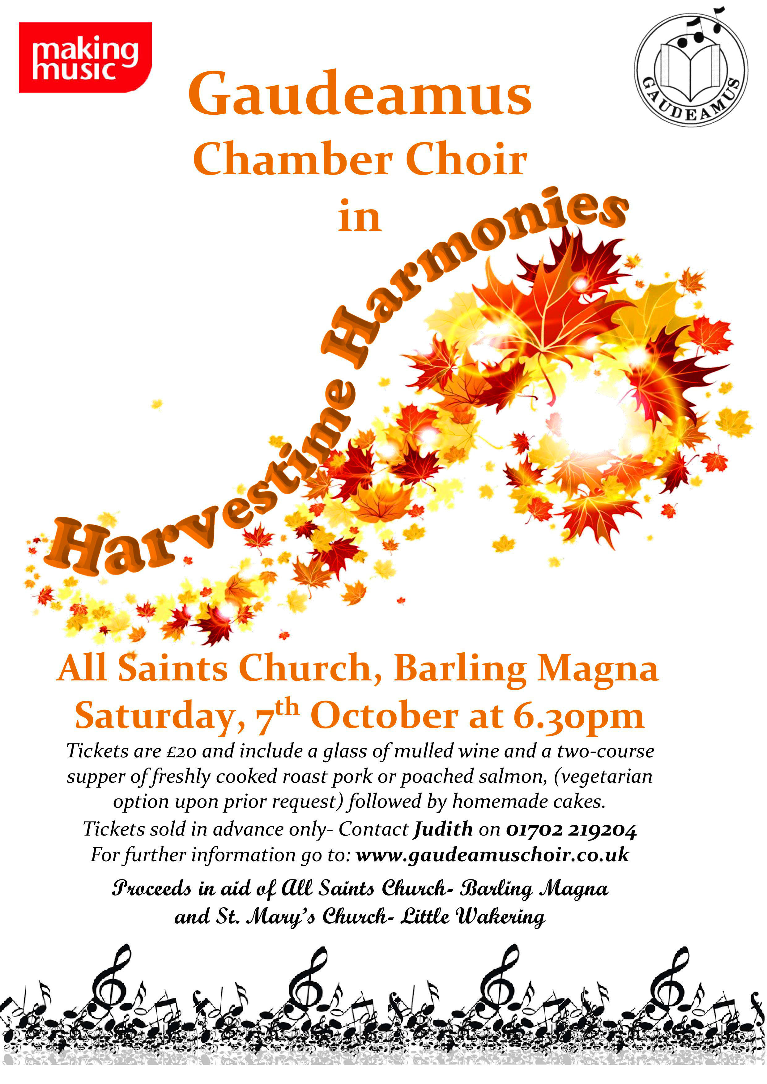 """Harvestime Harmonies"" at All Saints' Church, Barling Magna"