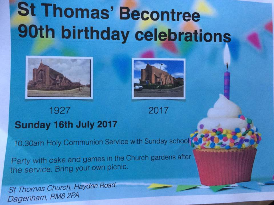 St. Thomas, Becontree, 90th Birthday service and picnic