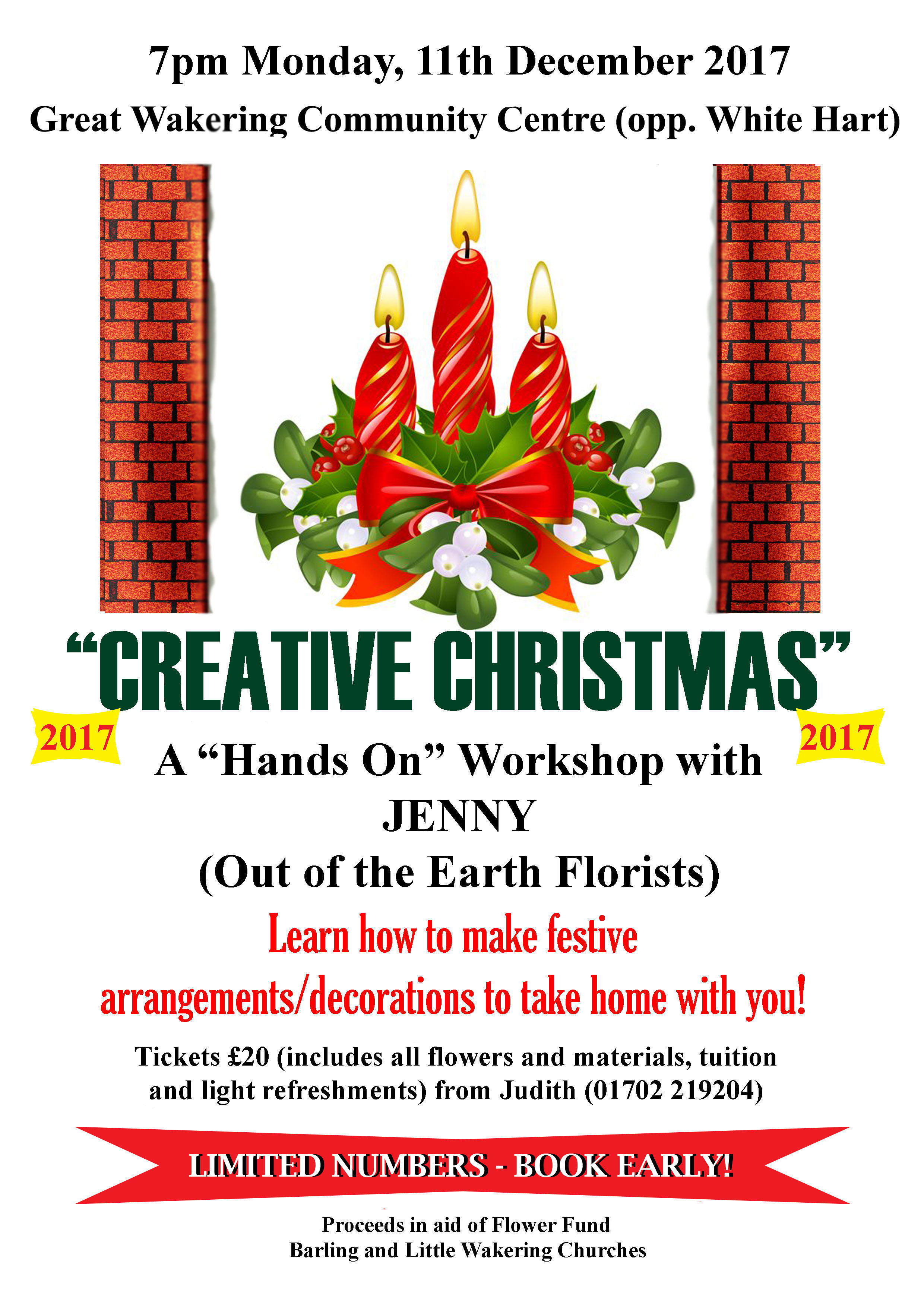 """Creative Christmas"" in aid of the Flower Fund, All Saints' Church, Barling Magna"