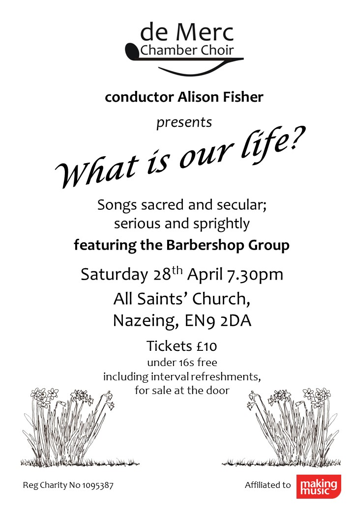 What is our life - concert by De Merc Chamber Choir