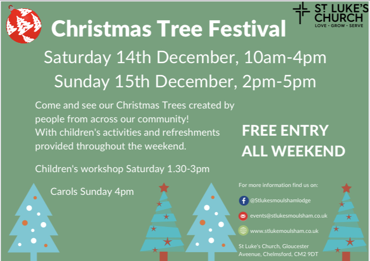 Moulsham Lodge and Tile Kiln Christmas Tree Festival 2019