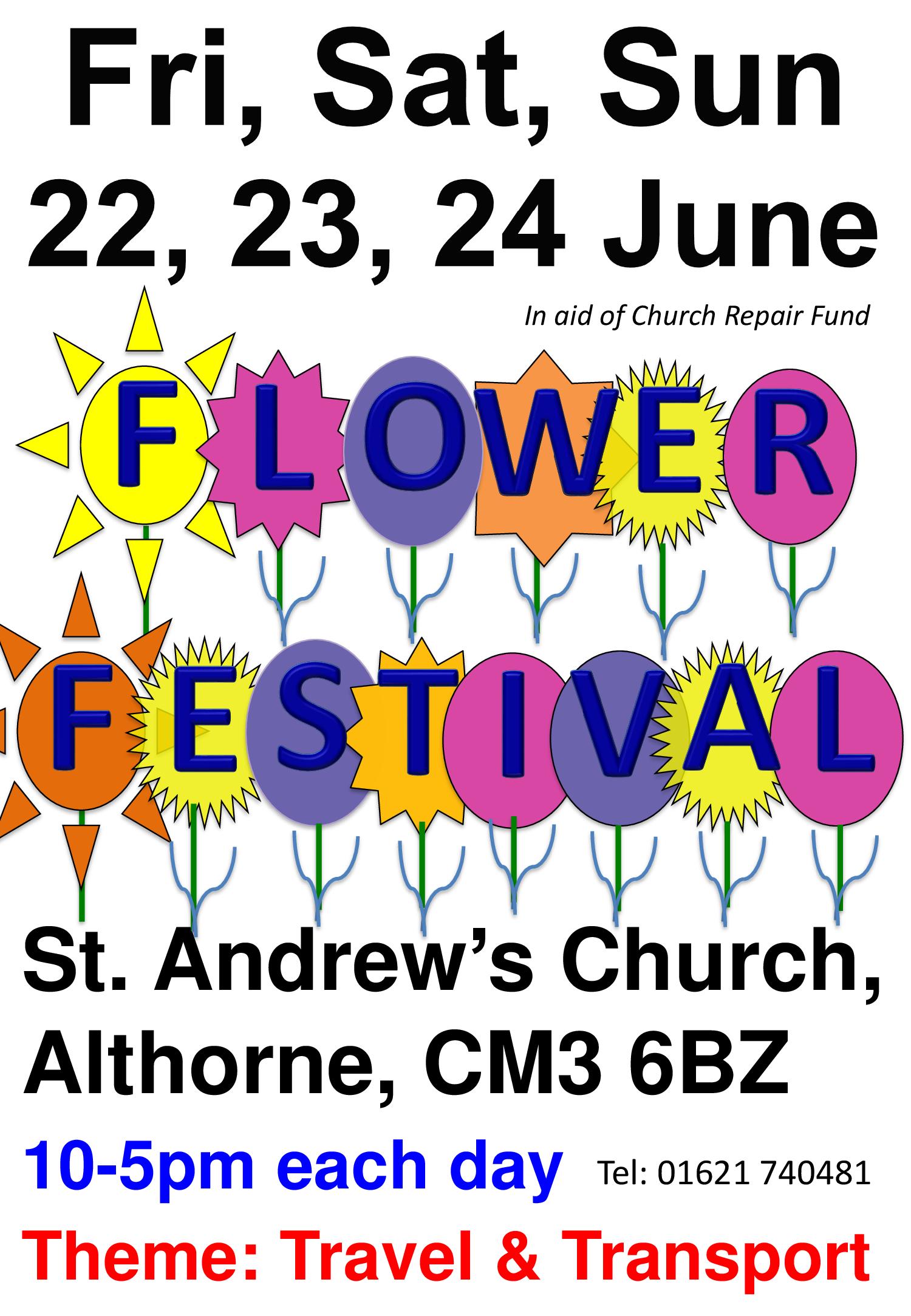 Flower Festival, themed: Travel & Transport