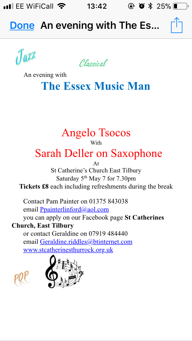 An Evening with The Essex Music Man