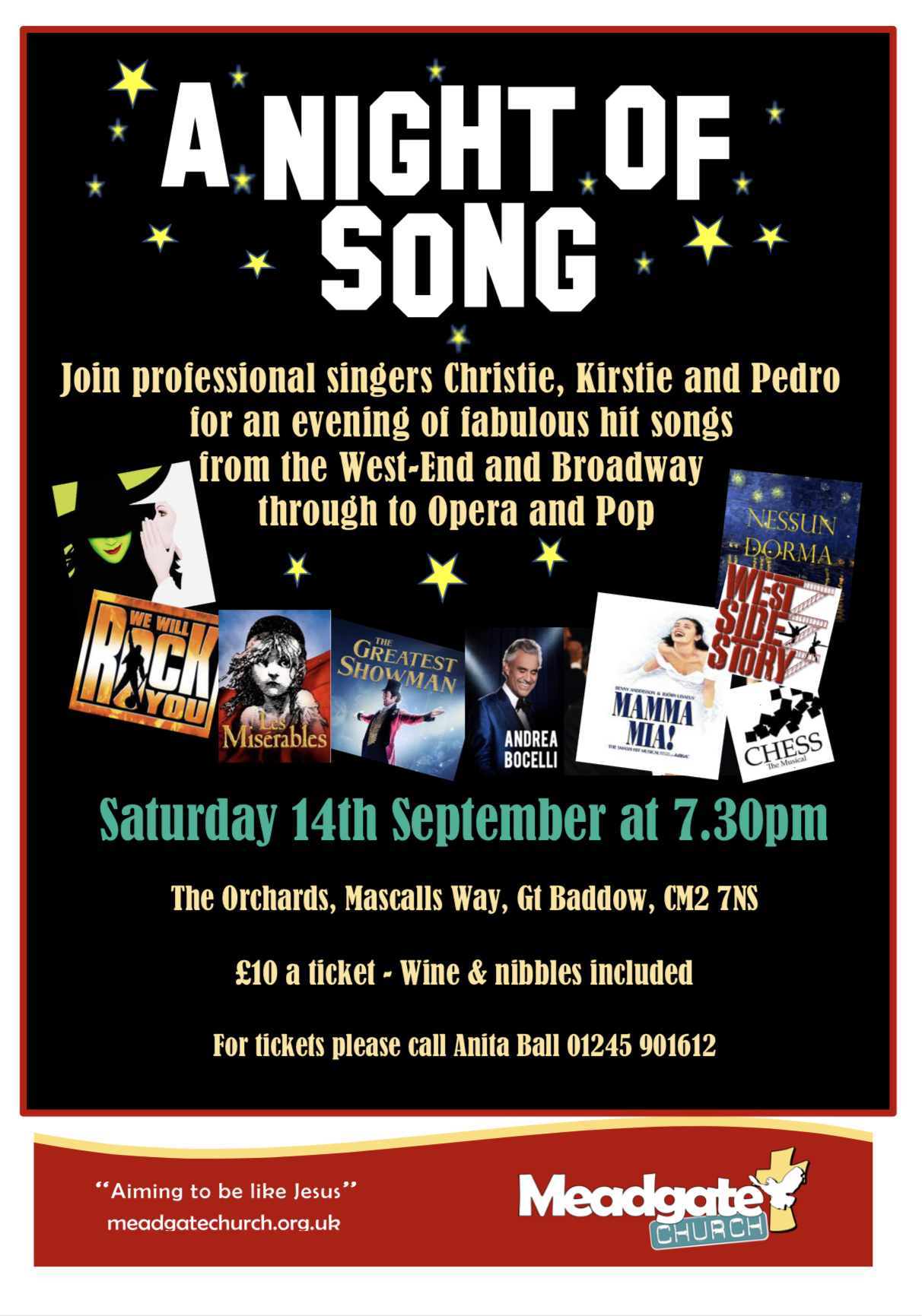 Songs from the Shows at Meadgate Church, Chelmsford