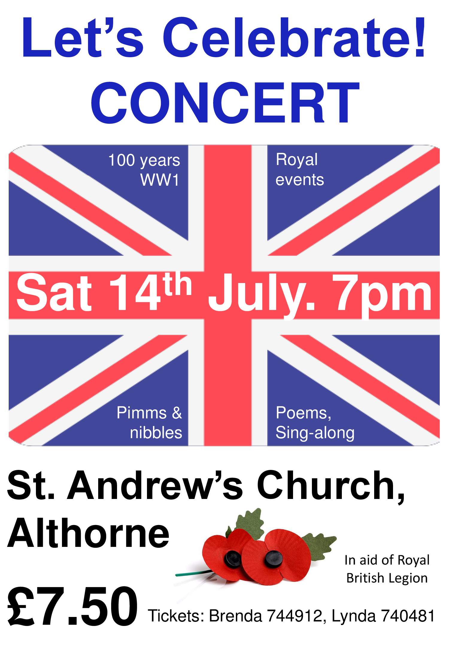 Concert: Let's Celebrate! St Andrew's Althorne