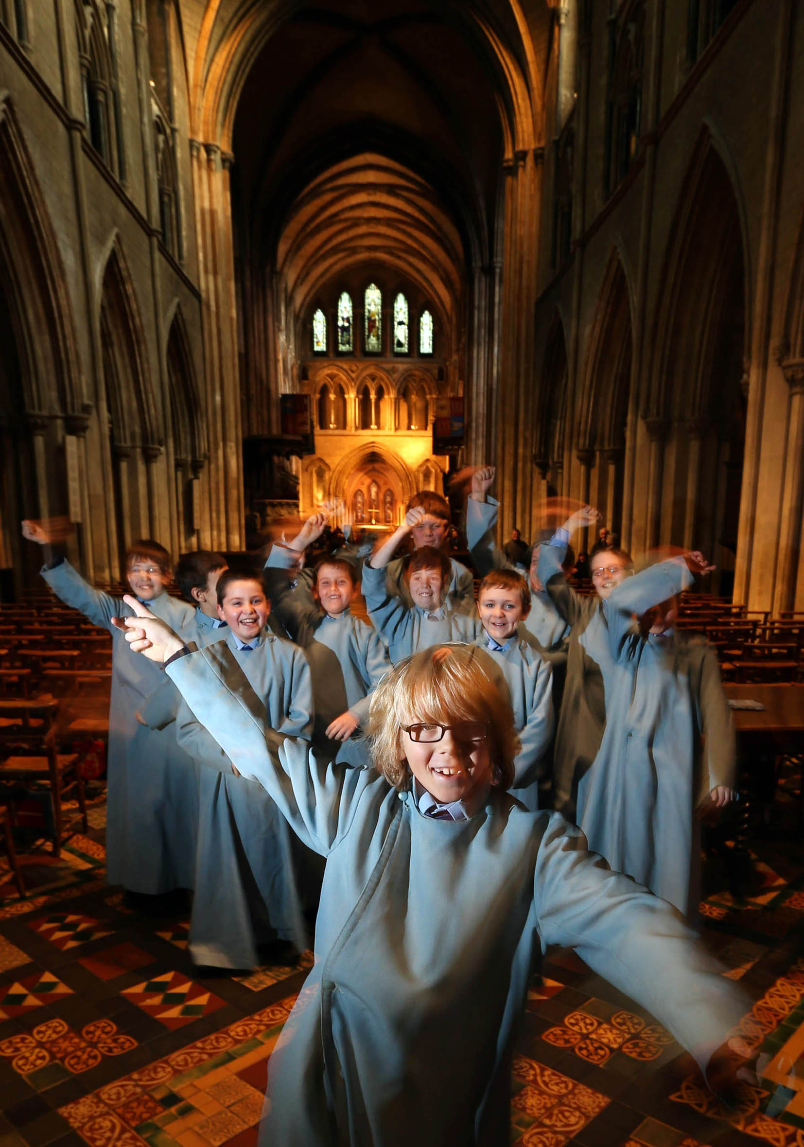 Cathedral Choristers in Concert at Waltham Abbey church.