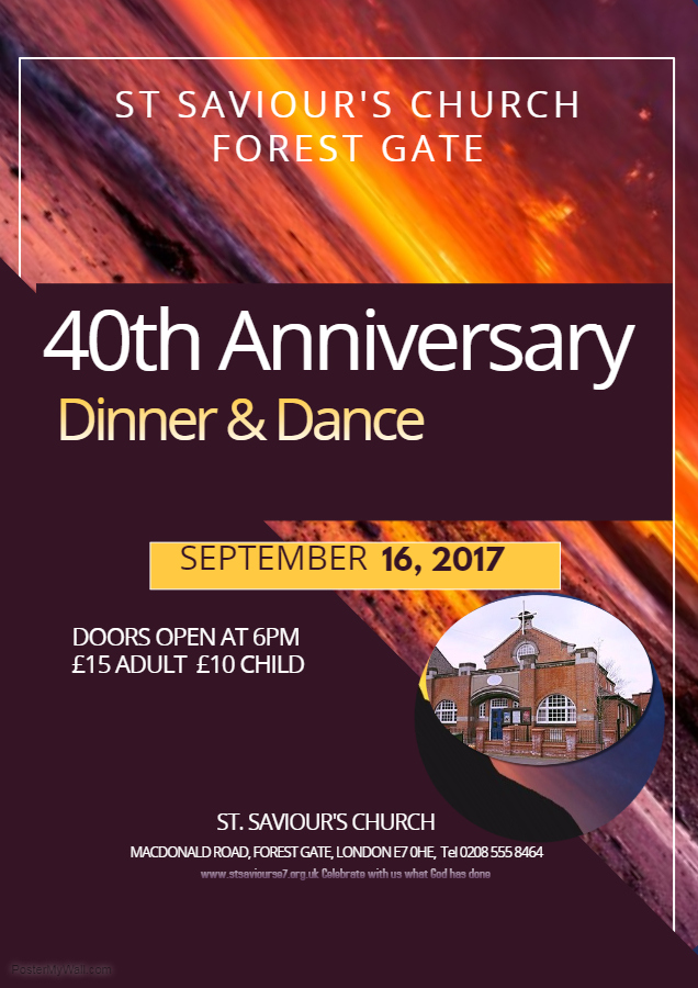 40th Year Anniversary of the worshiping community at St. Saviour, Forest Gate