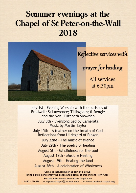 Summer evenings at the Chapel of St Peter-on-the-Wall