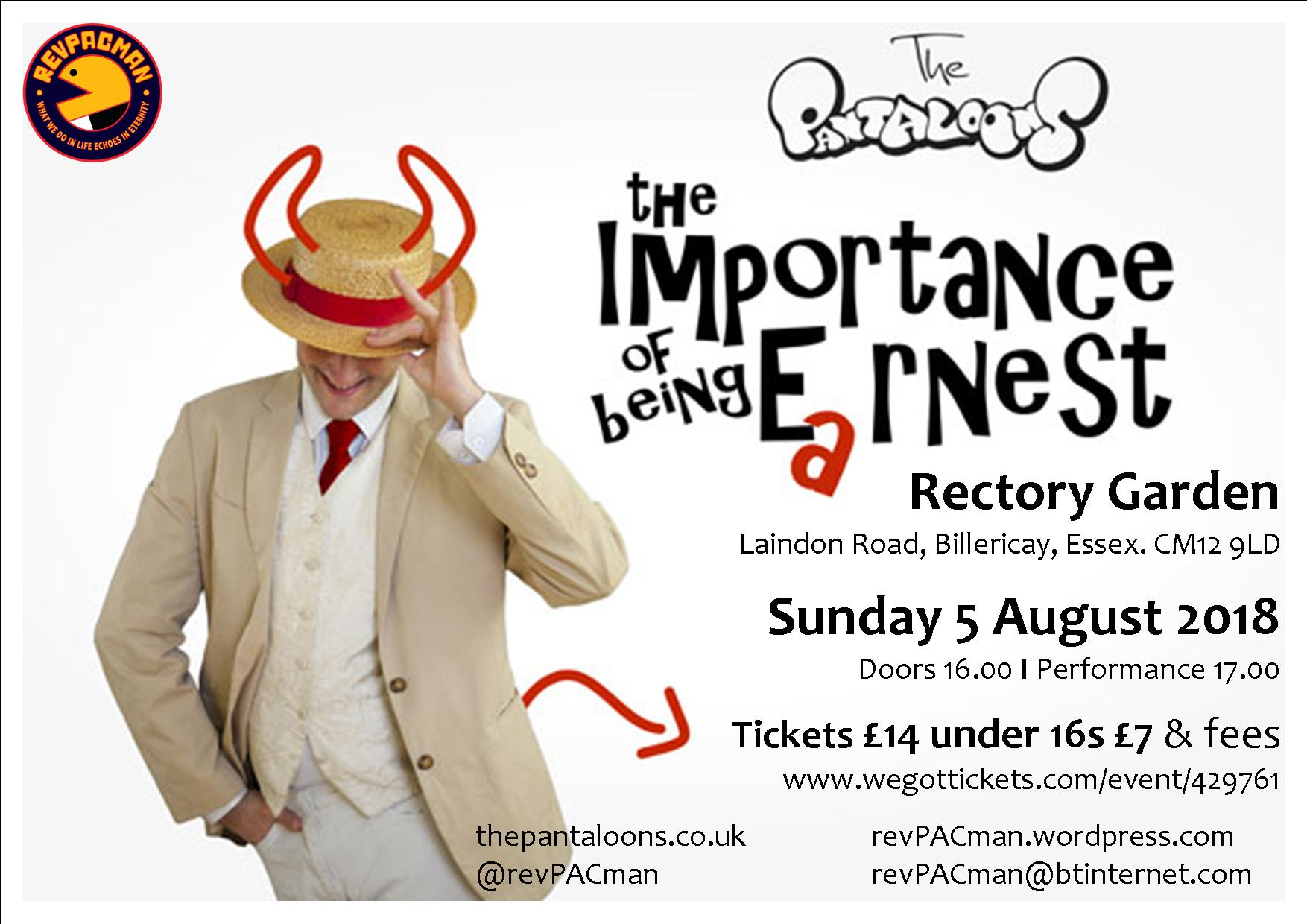 The Pantaloons: The Importance Of Being Earnest