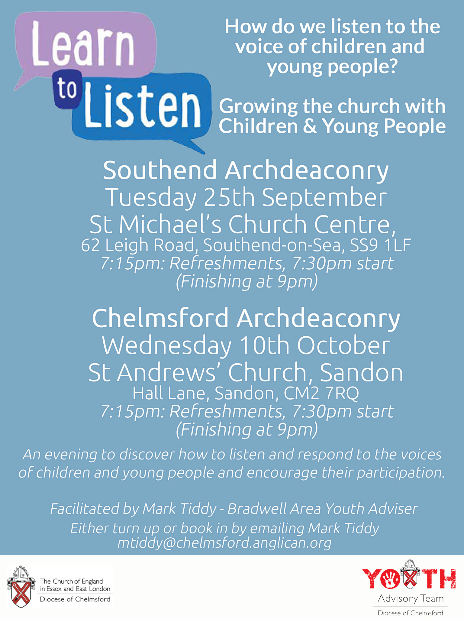 Learn to Listen - Training Evening (Southend Archdeaconry)