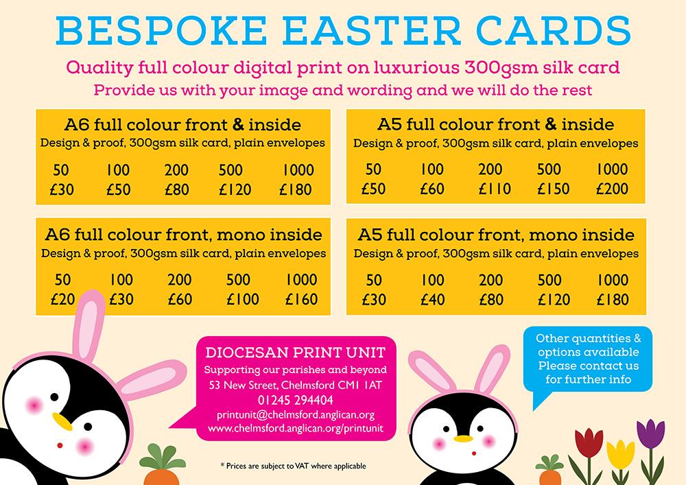 Order your bespoke Easter cards