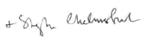 Bishop Stephen signature
